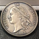 1888 Colombia Old peso 5 Decimos Silver plated Copy Coin