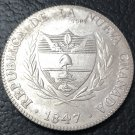 1847 Colombia 8 Reales Silver Plated Copy Coin