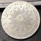 1838 Peru 8 Reales South Peru silver plated COPY coin