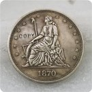 1870 $1 Standard Seated Dollar Copy Coin No Stamp