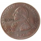 1792 Washington Grate One Penny Copper Copy Coin No Stamp