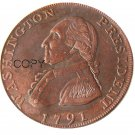 1791 Washington Grate One Penny Copy Coin No Stamp