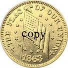 USA Civil war 1863 copy coins #9 No Stamp
