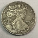 "1919	United States ½ Dollar ""Walking Liberty Half Dollar"" Copy Coin No Stamp"