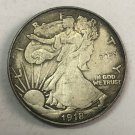 "1918	United States ½ Dollar ""Walking Liberty Half Dollar"" Copy Coin No Stamp"