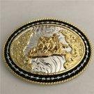 1 Pcs Lace Gold Rodeo Western Cowboy Metal Belt Buckle