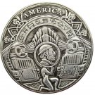US Hobo Morgan Dollar Skull Train Zombie Skeleton Silver Plated Copy Coins No Stamp