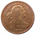 US 1808 CWC Draped Bust Half Cent Copper Copy Decorate Coin No Stamp