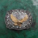 1 Pcs Silver Golden Fly Eagle Cowboy Western Metal Belt Buckle