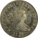 US Early Silver Dollars 1795 1 Dollar Brass Plated Silver Copy Coin
