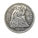 USA 1872 Liberty Seated Half Dime Legend Obverse Copy Coins