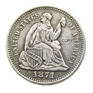 USA 1871 Liberty Seated Half Dime Legend Obverse Copy Coins