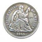USA 1865 Liberty Seated Half Dime Legend Obverse Copy Coins