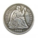 USA 1860 Liberty Seated Half Dime Copy Coins