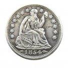 USA 1854 Liberty Seated Half Dime Copy Coins