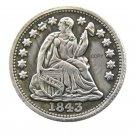 USA 1843 Liberty Seated Half Dime Copy Coins