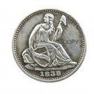 USA 1838-O Liberty Seated Half Dime No Stars (Regular Strike) Copy Coins