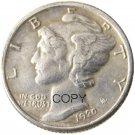 US 1920 Mercury Head Ten Cent Dime Silver Plated Copy Coins