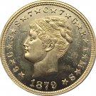 USA 1879 Four Dollars Stella Pattern Brass Gold Copy Coin
