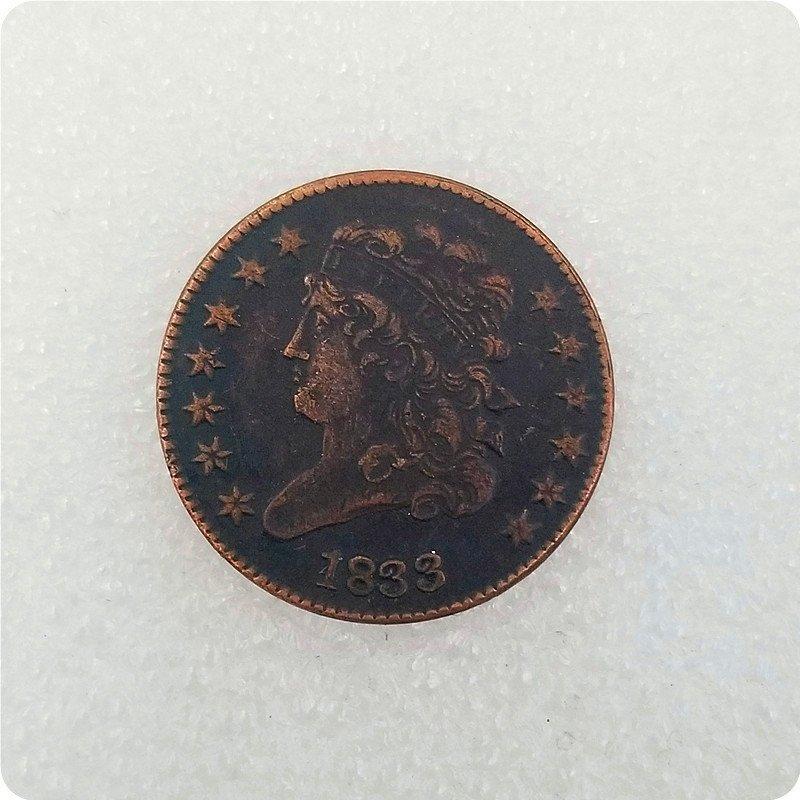 USA 1833 Classic Head Half Cent Copy Coin