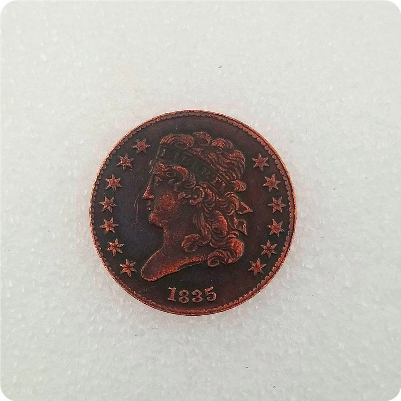 USA 1835 Classic Head Half Cent Copy Coin