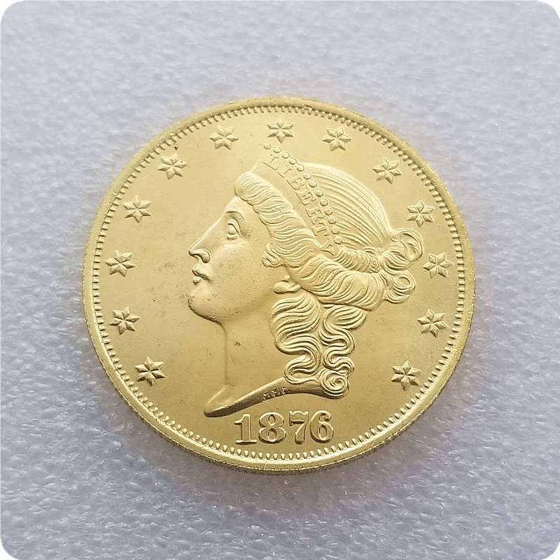 USA 1876 Liberty Head Twenty Dollar Copy Coin