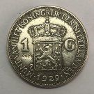 1929 Netherlands 1G-Queen Wihelmina Silver Plated Copy Coin