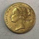 1855 Australia - Colonial ½ Sovereign - Victoria Pattern Copy Coin