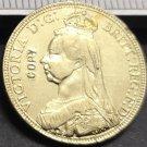 1890 United Kingdom 1 Sovereign - Victoria Copy Coin