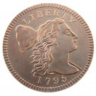 US 1795 One Cent 1C Plain Edge BN (Regular Strike) Copy Coin