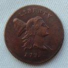 US 1795 Liberty Cap Flowing Hair Half Cent Copy Coin