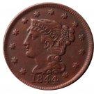 US 1844 Braided Hair One Cent Copy Coin