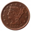 US 1845 Braided Hair One Cent Copy Coin
