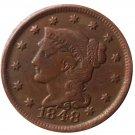 US 1848 Braided Hair One Cent Copy Coin