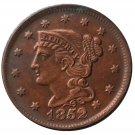 US 1852 Braided Hair One Cent Copy Coin