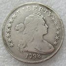 US 1798 Draped Bust Small Eagle One Dollar Copy Coin