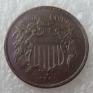 US 1866 Two Cents 2C Copy Coin