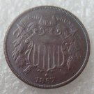 US 1867 Two Cents 2C Copy Coin