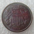 US 1868 Two Cents 2C Copy Coin