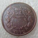 US 1872 Two Cents 2C Copy Coin