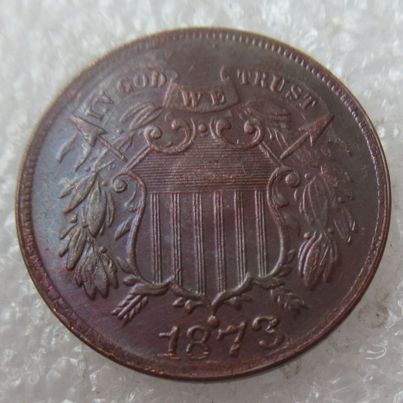 US 1873 Two Cents 2C Copy Coin