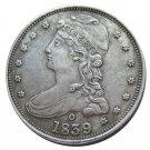 US 1839-O Capped Bust Half Dollar Copy Coin