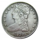 US 1839 Capped Bust Half Dollar Copy Coin