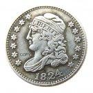 US 1824 Capped Bust Dime 10 Cent Copy Coins