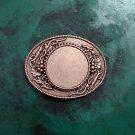 Vintage Flower Pattern Blank Western Cowboy Belt Buckle Hebilla Cinturon