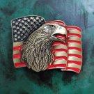 US Flag Eagle Head Cowboy Belt Buckle Boucle De Ceinture