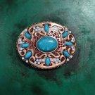 Turquoise Stone Western Cowboy Belt Buckle For Men/Women