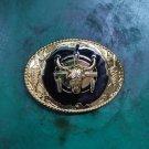 Golden Totem Bull Head Western Cowboy Belt Buckle For Men