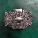 Flower Pattern Western Cowboy Belt Buckles For Men