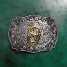 High Quality Alloy Designers Fashion Male Luxury Golden S Letter Belt Buckles